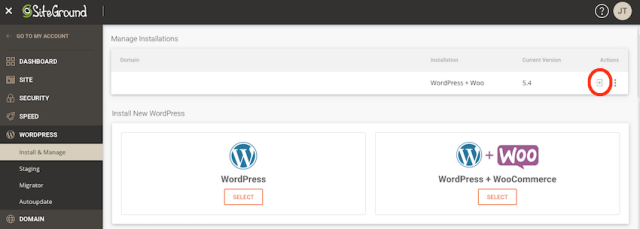 You can setup and manage your WordPress website by selecting the Log in to Amin Panel icon