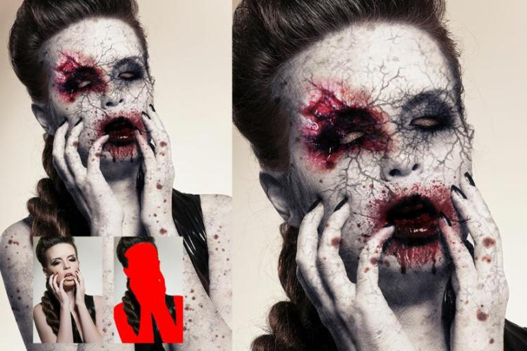 Zombie photoshop action preview