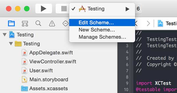 Edit the current scheme to enable code coverage