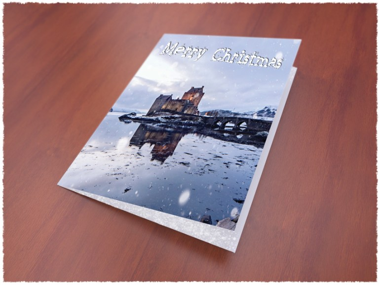 christmas card mock up