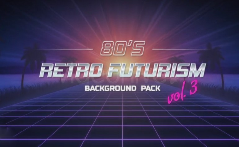 80s Retro Futurism Background Pack vol3 4K
