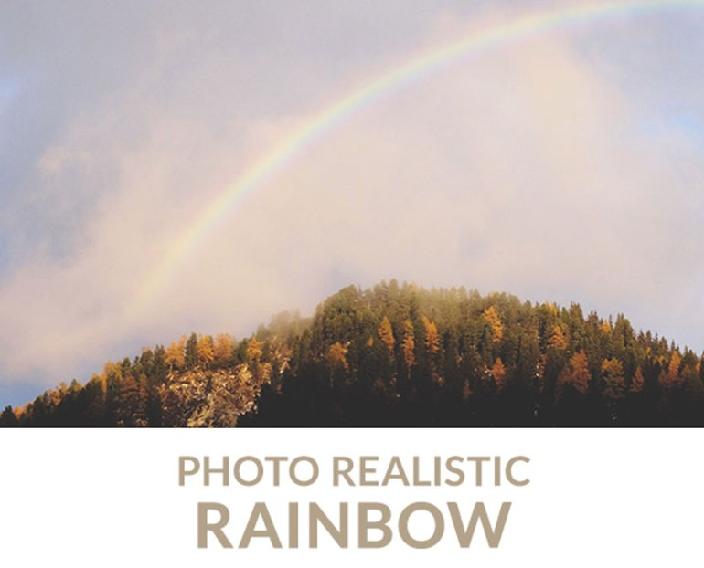 Photo-Realistic Rainbow Action