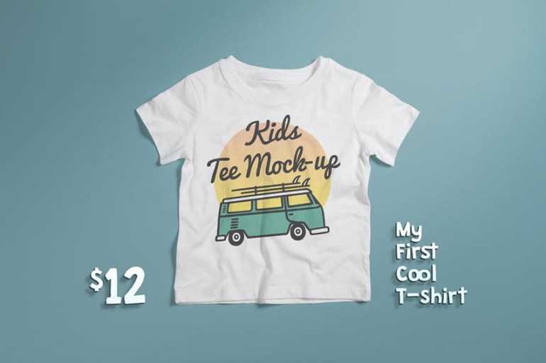 Crew Neck T-shirt Mock-up Kids Version