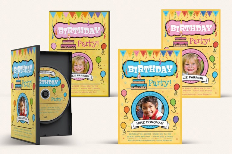 Kids Birthday Party Flyer and DVD Collection 03