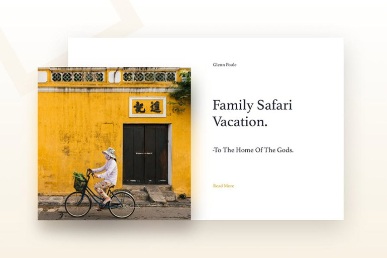 Travel Blog  Web Template