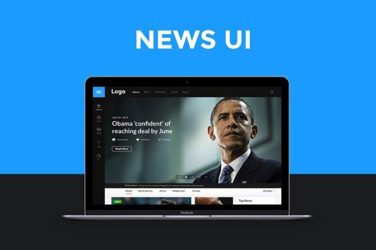 News website UI