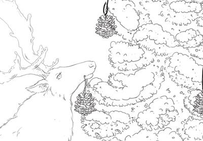 Create a Winter Scene in Adobe Photoshop: The Line Art