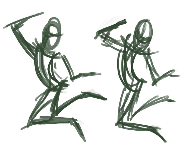 Scribbly Jump Sketches
