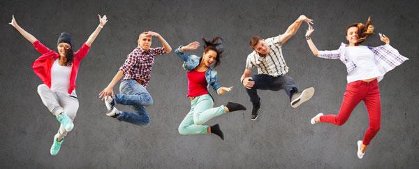 Group of Teenagers Jumping - Photodune