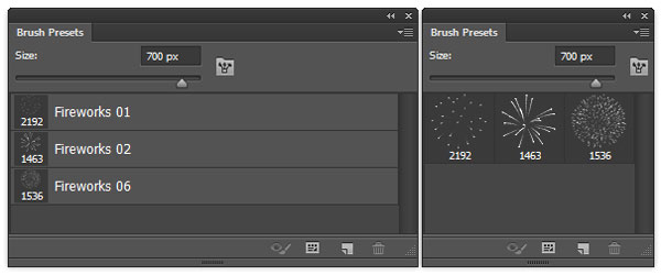 Brushes from 25 Hi-Res Fireworks Brushes by Spetrany
