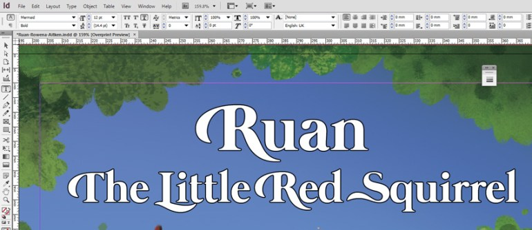 Ruan Finished Titles in InDesign