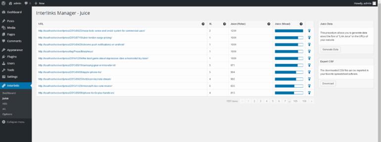 Interlinks Manager plugin demo