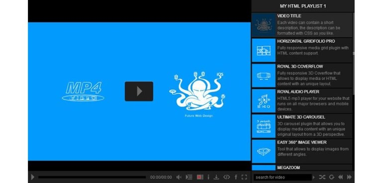 Ultimate WordPress video player screenshot