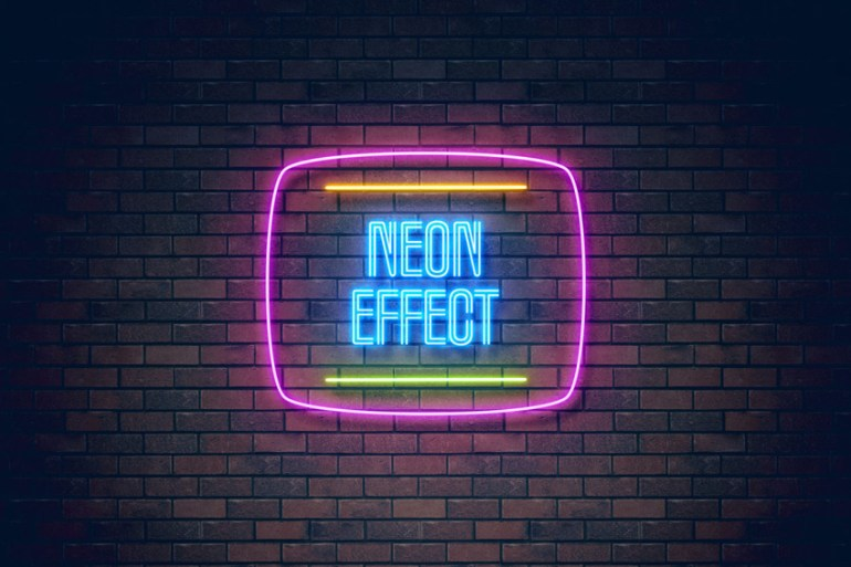 neon light effect on Envato Elements