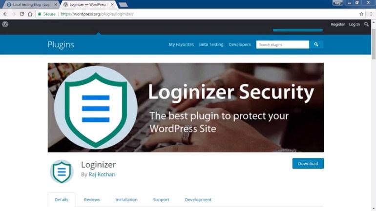 Loginizer plugin