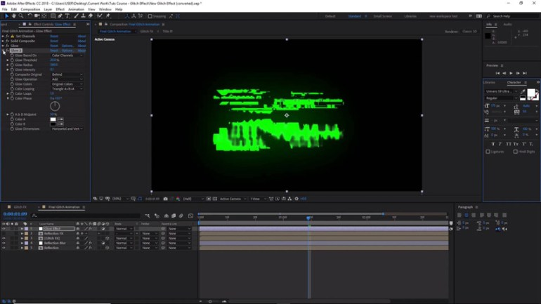 Creating a glitch effect in Adobe After Effects
