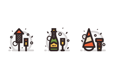 How to Create a New Year's Celebration Icon Pack in Adobe