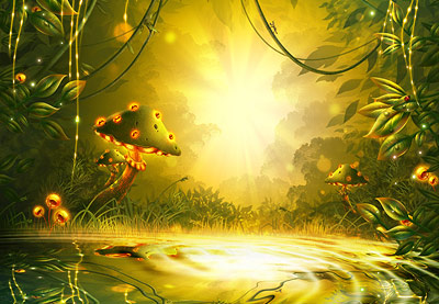 Android 3d Wallpaper Effect How To Create A Fantasy Game Background In Adobe Photoshop