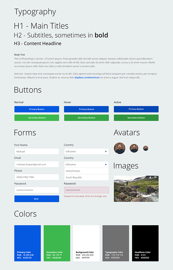 Cara Membuat Mockup Website Dengan Photoshop : membuat, mockup, website, dengan, photoshop, Designing, Kit‏, Adobe, Photoshop