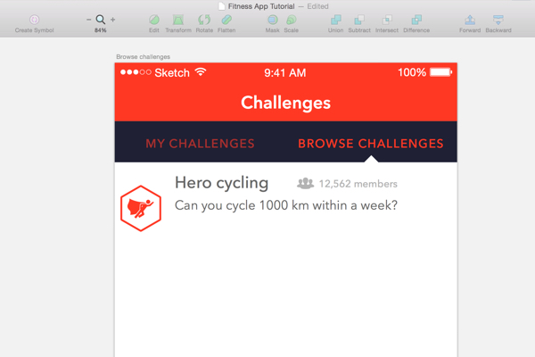 Designing the Browse Challenges screen