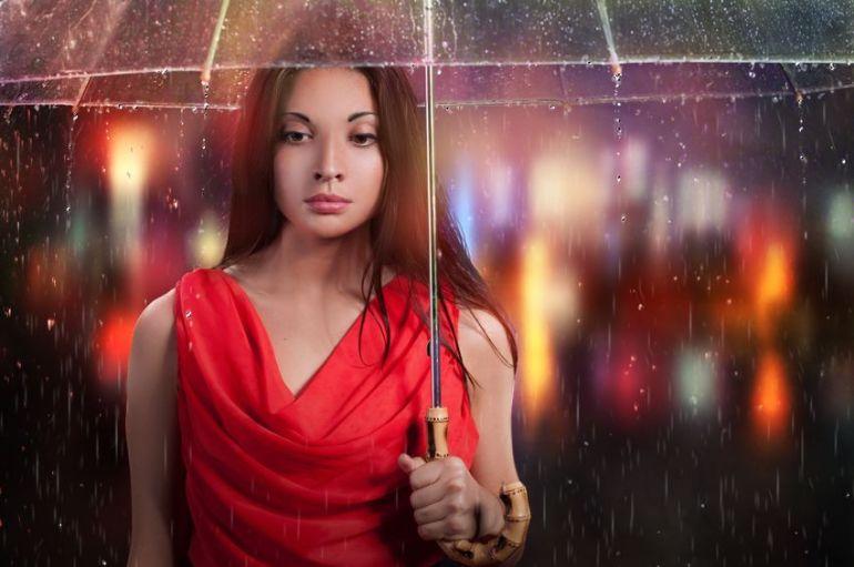 select painting rain