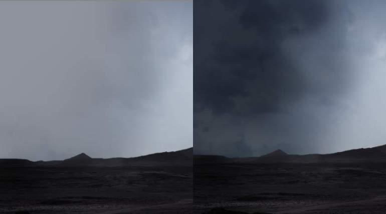 darken sky
