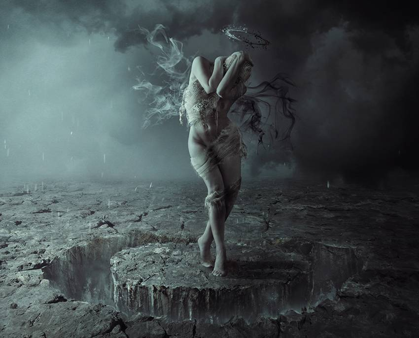 Girl Crying Alone Wallpaper How To Create A Dark Fallen Angel Scene With Adobe Photoshop