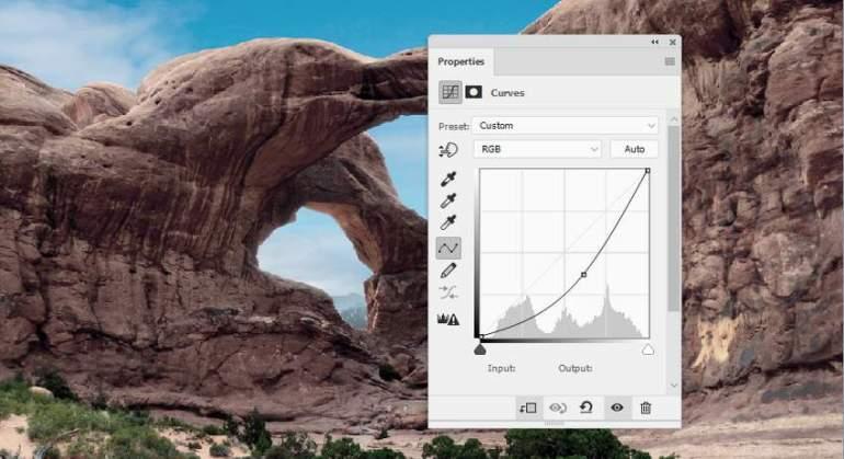 Photoshop Adjustment Layers - landscape curves