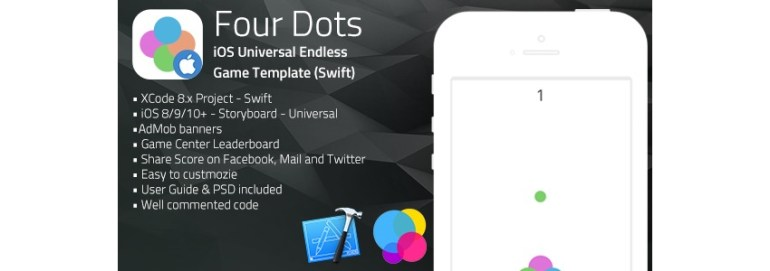 Four Dots iOS app template on CodeCanyon