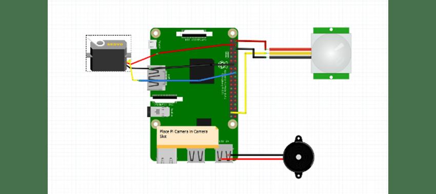 Schematics for a simple customized smart doorbell