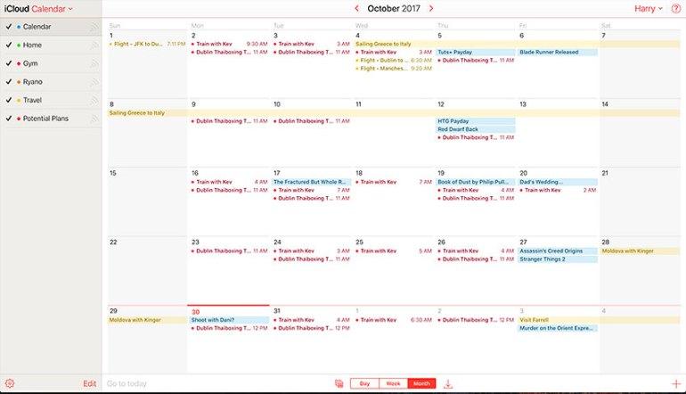 icloud calendar app with online syncing