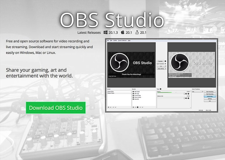 obs studio screen recording software
