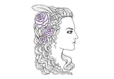 How to Create a Medieval-Style Female Profile With Ink and