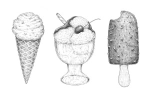 ice cream draw drawings step pencil drawing easy sketch realistic dessert tutorial types way glass