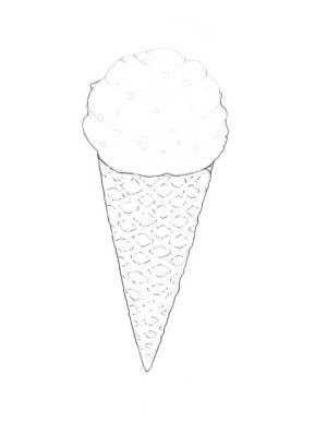 ice cone drawing cream easy colour