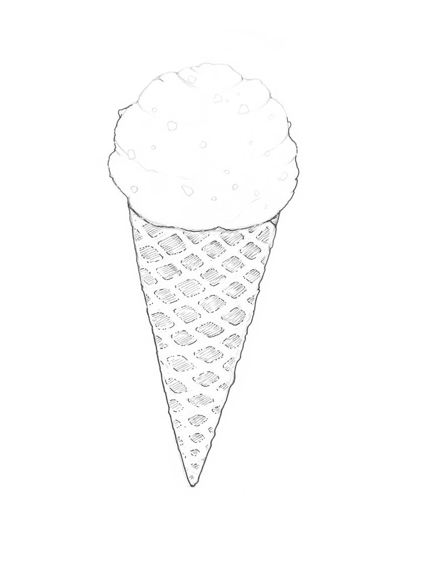 How to Draw Ice Cream Step by Step