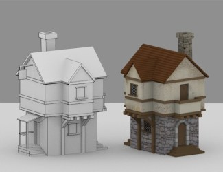 Creating a Low Poly Medieval House in Blender: Part 1