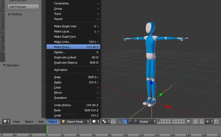 Make armature a proxy object
