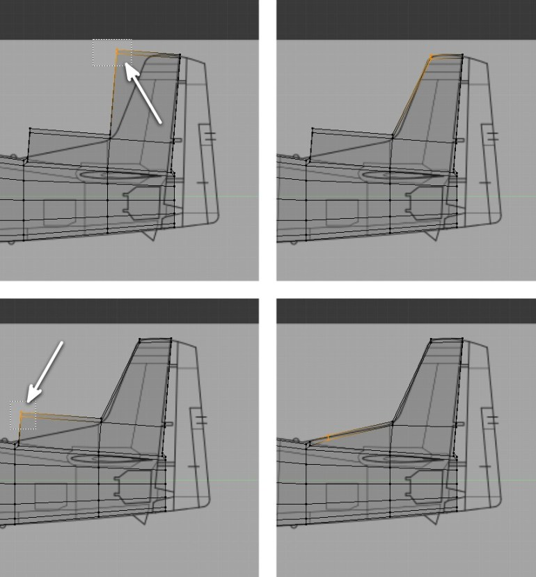 Tweak the vertices to create tail