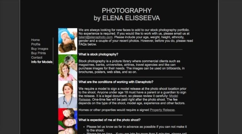 Image of Elena Elisseevas webpage