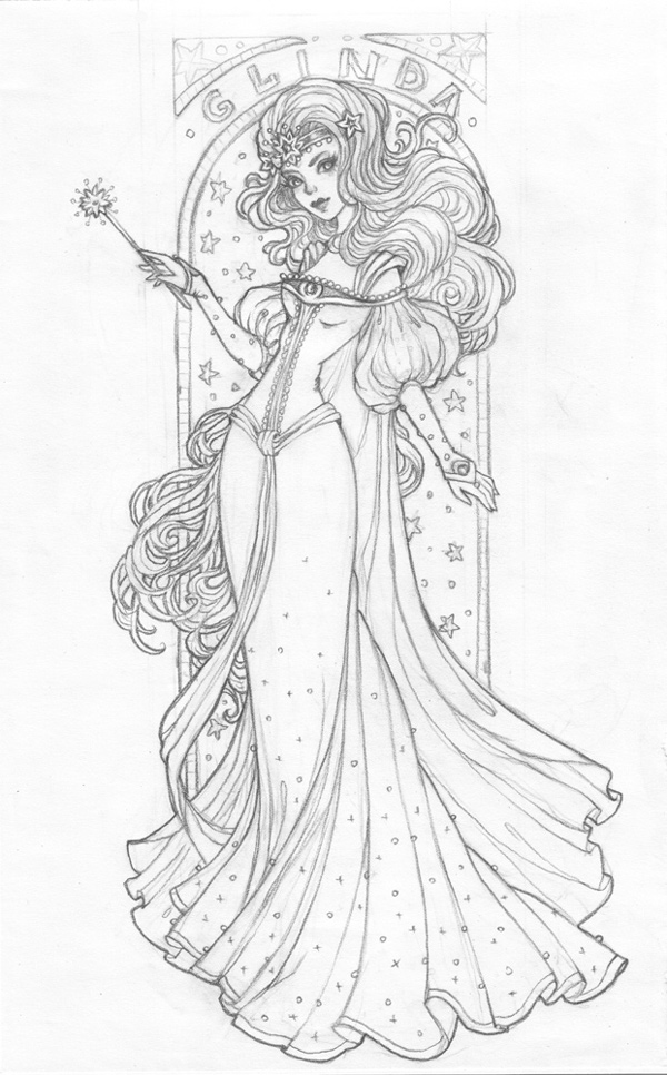 Create an Art Nouveau-Inspired Glinda Character in Adobe