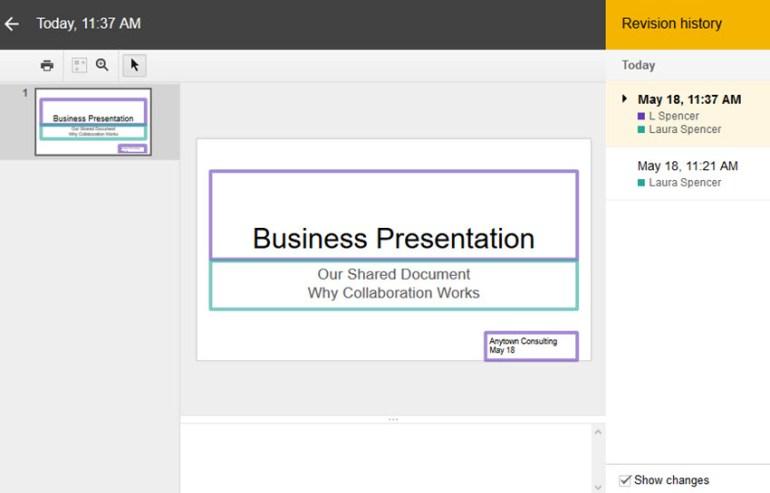 Google Slides collaboration