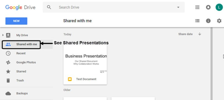 Google Slides Open Presentation