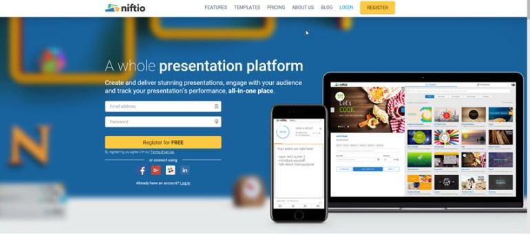 Niftio online presentation software tool