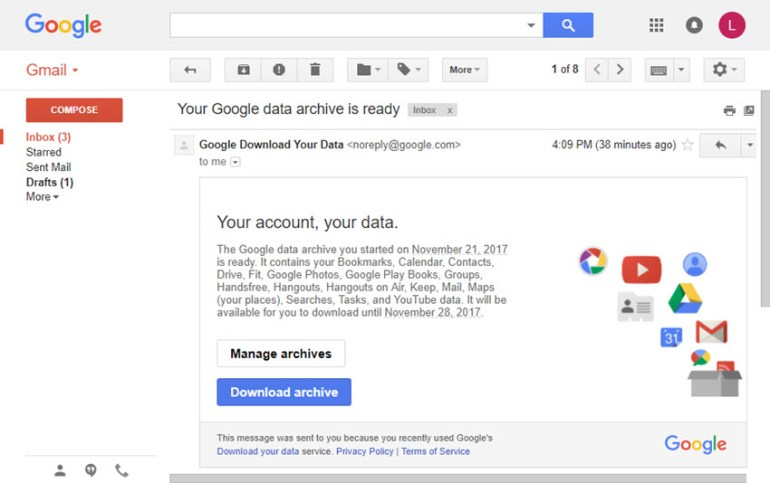 Gmail backup archive email