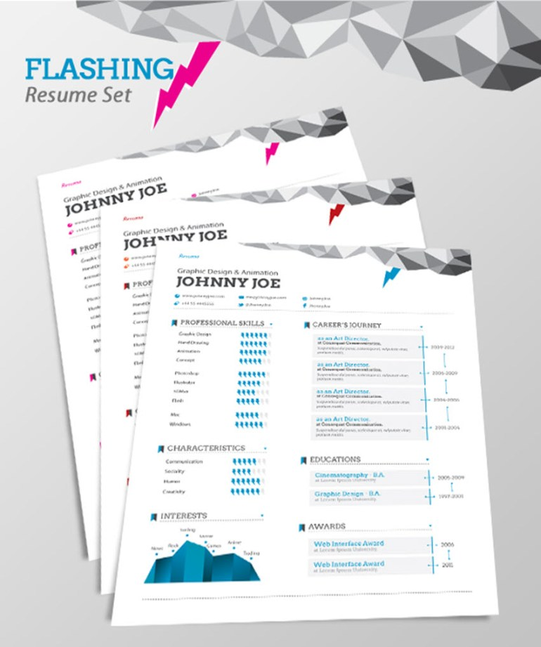 Flashing Resume - Visual Resume Template