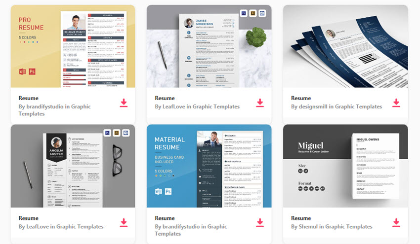 18 Best Photoshop PSD Resume Templates With Photo Formats