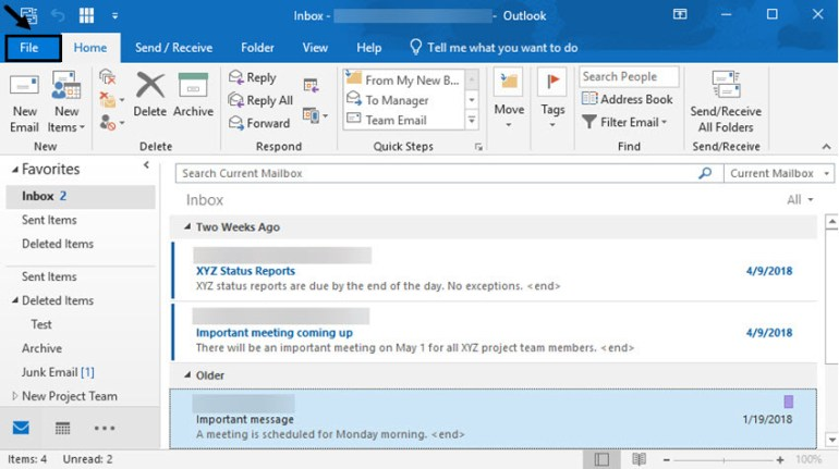 Start in the inbox