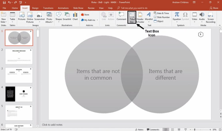 Label PowerPoint Venn Diagram
