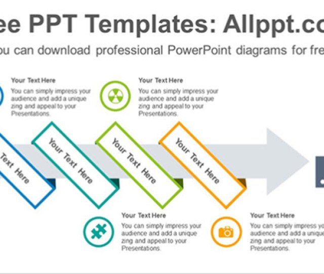 Ribbon Wrapped Arrow Powerpoint Diagram